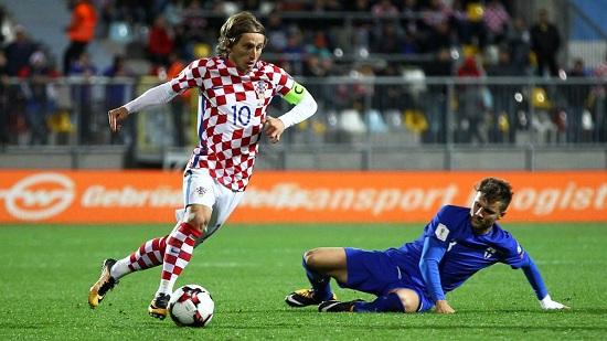 Cầu thủ thi đấu rất hay trong màu áo Croatia - Luka Modric.