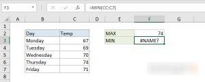 Sửa lỗi Name trong Excel